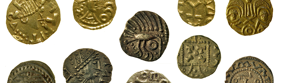 selection of Anglo-Saxon coins in gold, silver and copper alloy