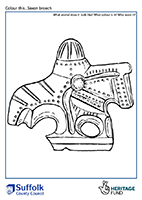 outline of a horse shaped saxon brooch