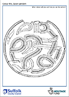 outline of Saxon pendant