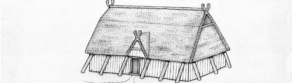 illustration of an Anglo-Saxon hall