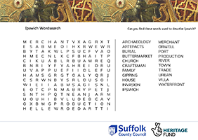 wordsearch about Ipswich