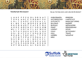 wordsearch about Rendlesham
