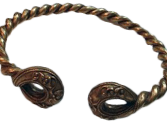an Iron Age gold torc