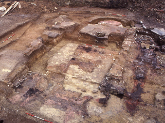 excavation of Castle villa