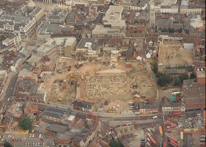 aerial photo of butter market excavation