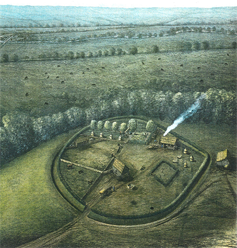 illustration of saxon enclosed settlement