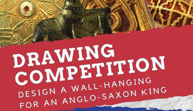 collection of anglo-saxon objects and title of drawing competition