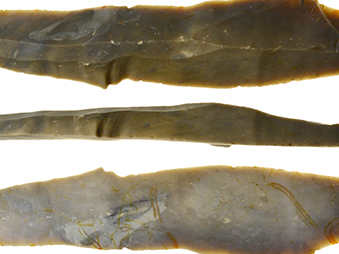 showing three faces of a Terminal Palaeolithic Long Blade