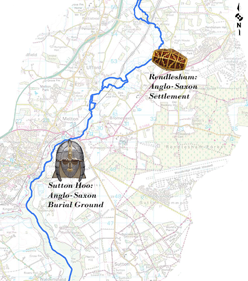 map of rendlesham revealed project showing location of rendlesham and sutton hoo