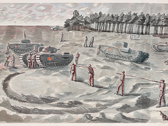 painting of the Kruschen exercise copyright of Imperial War Museum